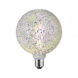Paulmann 28745 LED žárovka s bílou mozaikou, 5W LED E27 stmívatelná, výška 17cm