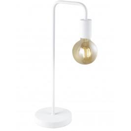 Trio Leuchten 508000131 Trio Diallo, industriální bílá stolní lampa s vypínačem, 1x42W E27, výška 51cm