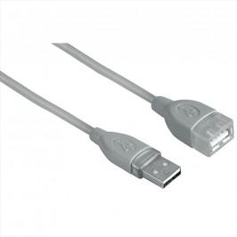 Hama USB kabel typ A-A, prodlužovací, 0,25 m, šedý, blistr