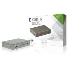König KNVSP3402, rozbočovač, 1x HDMI vstup - 2x HDMI výstup