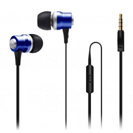 Connect IT Alu Sonics EP-224-BL do uší s mikrofonem modrá CI-1042