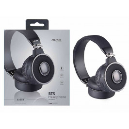 M.TK BT sluch. FM K3553, černá 0351142