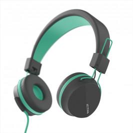 Hama Next on-ear sluchátka s mikrofonem, šedozelená