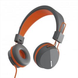 Hama Next on-ear sluchátka s mikrofonem, šedoornažová