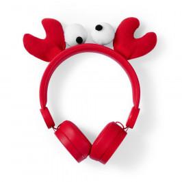 Nedis Dětská sluchátka Krab HPWD4000RD