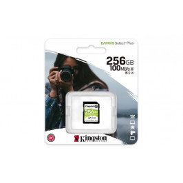 Kingston Canvas select plus microSDXC 256GB Class 10 + SD adaptér