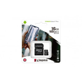 Kingston Canvas Select Plus micro SDHC 16GB Class 10 UHS-I + SD adaptér