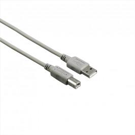 Hama USB kabel typ A-B, 1.8m, šedý, nebalený