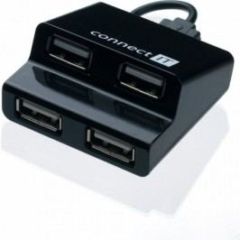 CONNECT IT CI-108 USB HUB 4x STEP černý