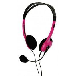 basicXL Stereo headset, růžový