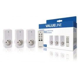 Valueline 3ks dálk.ovládaných zásuvek