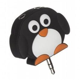 Dětská rozdvojka na sluchátka MY DOODLES PENGUIN, 2x 3,5 mm jack