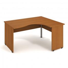 Stůl ergo levý 160*120 cm - Hobis Gate GE 2005 L Dekor stolové desky: třešeň, Dekor lamino podnože: třešeň, Barva nohy: stříbrná