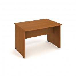 Stůl jednací rovný 120 cm - Hobis Gate GJ 1200 Dekor stolové desky: třešeň, Dekor lamino podnože: třešeň