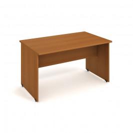 Stůl jednací rovný 140 cm - Hobis Gate GJ 1400 Dekor stolové desky: třešeň, Dekor lamino podnože: třešeň