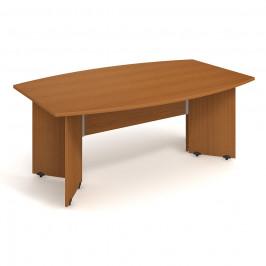Stůl jednací sud 200 cm - Hobis Gate GJ 200 Dekor stolové desky: třešeň, Dekor lamino podnože: třešeň