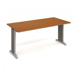 Stůl jednací rovný 180 cm - Hobis Flex FJ 1800 Dekor stolové desky: třešeň, Barva nohou: Stříbrná