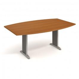 Stůl jednací sud 200 cm - Hobis Flex FJ 200 Dekor stolové desky: třešeň, Barva nohou: Stříbrná