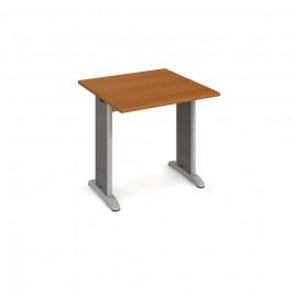 Stůl jednací rovný 80 cm - Hobis Flex FJ 800 Dekor stolové desky: třešeň, Barva nohou: Stříbrná