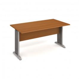Stůl jednací rovný 160 cm - Hobis Cross CJ 1600 Dekor stolové desky: třešeň, Dekor lamino podnože: třešeň, Barva nohou: Stříbrná