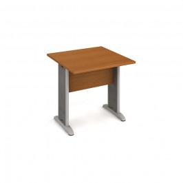 Stůl jednací rovný 80 cm - Hobis Cross CJ 800 Dekor stolové desky: třešeň, Dekor lamino podnože: třešeň, Barva nohou: Stříbrná