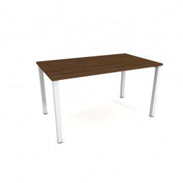 Stůl jednací rovný délky 140 cm - Hobis Uni UJ 1400 Dekor stolové desky: ořech, Barva nohou: bílá