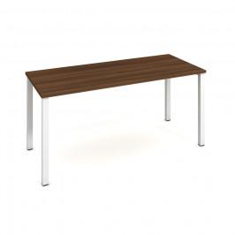 Stůl jednací rovný 160 cm - Hobis Uni UJ 1600 Dekor stolové desky: ořech, Barva nohou: bílá