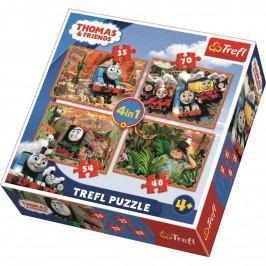 Puzzle TREFL Mašinka Tomáš 4v1 35,48,54,70 dílků
