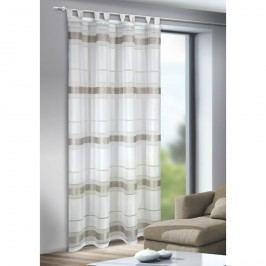 Záclona s poutky Mandy stříbrná, 135 x 245 cm, 135 x 245 cm