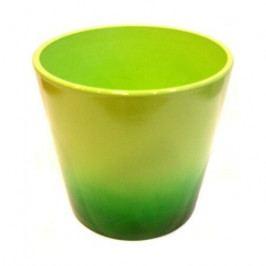 Keramický obal na květináč Ombré zelená, pr. 13,5 cm