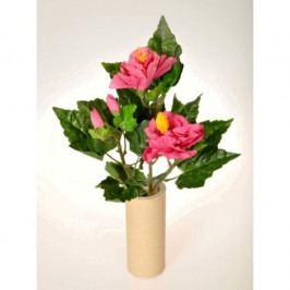 Umělá květina Ibišek svazek růžová, 35 cm
