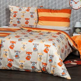 4Home Bavlněné povlečení Little Fox, 220 x 200 cm, 2 ks 70 x 90 cm