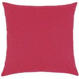 Bellatex Polštářek Rita Puntík červená, 40 x 40 cm