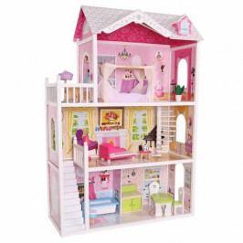 Ecotoys Domeček pro panenky Rezidence California s vybavením