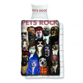 Halantex Bavlněné povlečení Pets Rock, 140 x 200 cm, 70 x 90 cm