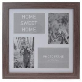 Koopman Fotorámeček na 4 fotografie Lamego tmavě hnědá, 37 x 37 cm