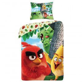 Halantex Dětské bavlněné povlečení Angry Birds movie 1166, 140 x 200 cm, 70 x 90 cm