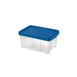 Tontarelli Úložný box s víkem Puzzle 5 l, transparentní/modrá