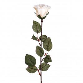 Umělá květina Růže velkokvětá 72 cm, bílá