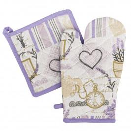 4Home Sada chňapka a podložka Lavender