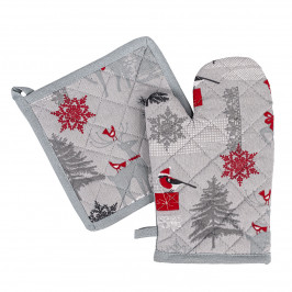 Trade Concept Vánoční sada chňapka a podložka Winter Forest