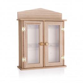 Dřevěná skříňka na klíče, 22 x 27 cm