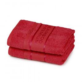4Home Bamboo Premium ručník červená, 50 x 100 cm, sada 2 ks