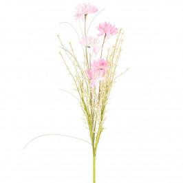Umělé luční květy 50 cm, růžová