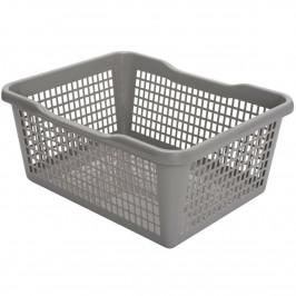 Aldo Plastový košík 35,9 x 26,9 x 13 cm, šedá