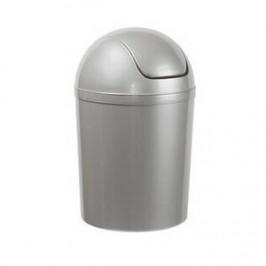 Aldo Odpadkový koš SWING TOP 5 l, stříbrná