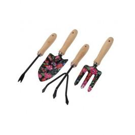 Koopman Sada zahradního nářadí Flower Tools černá, 4 ks