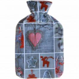 Modom Termofor s fleecovým obalem Winter 2 L Motiv Vánoční motiv