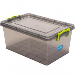 Aldotrade Plastový úložný box 1,5 l, šedá