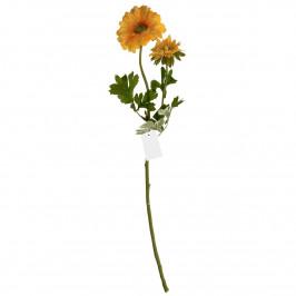 Umělá květina Gerbera 60 cm, žlutá
